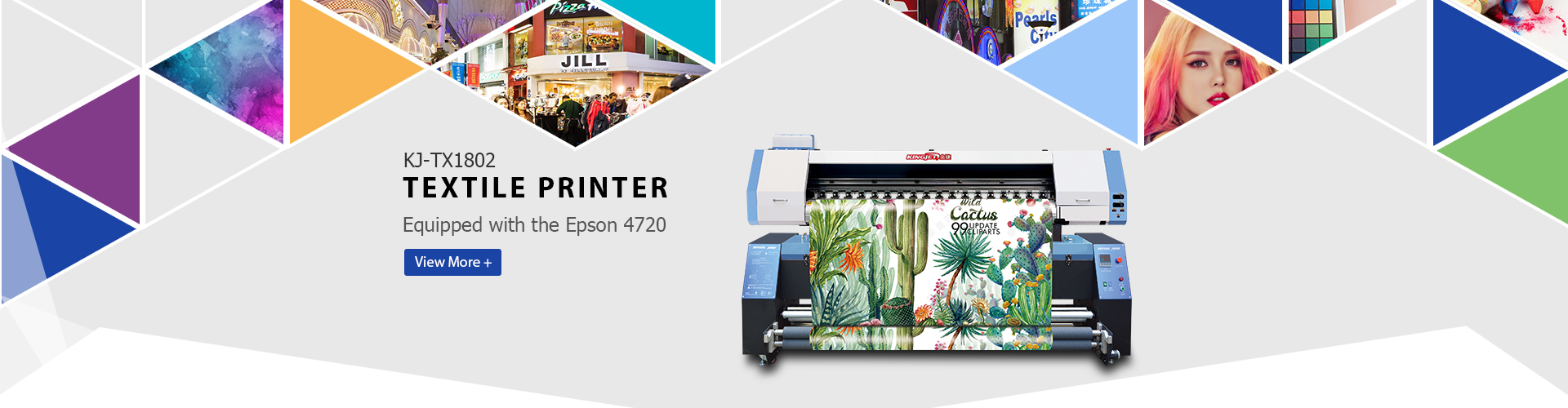 KINGJET KJ-TX1802 Epson 4720 Textile Printer
